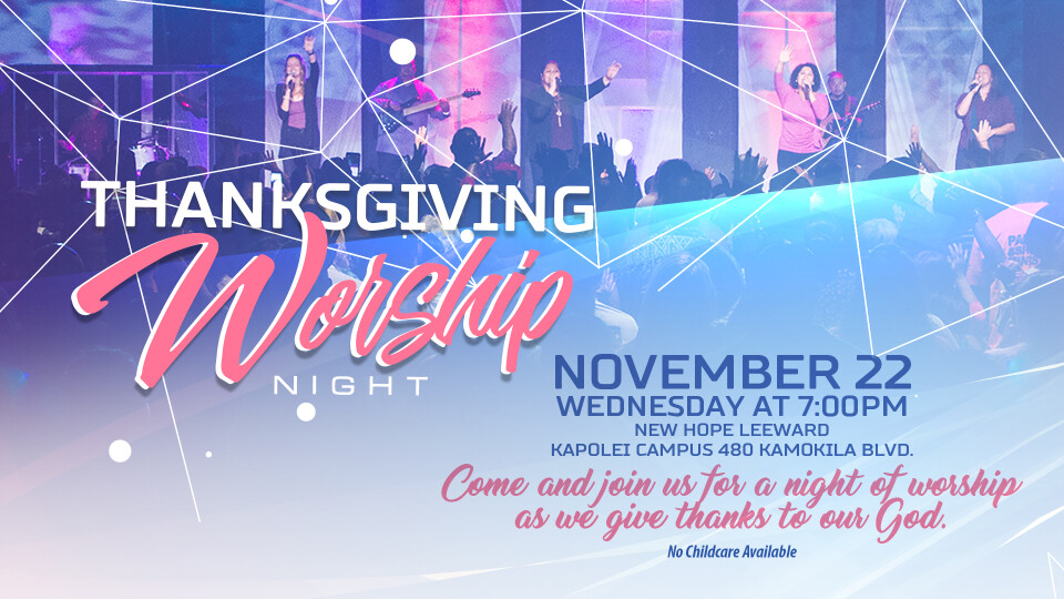 Thanksgiving Worship Night