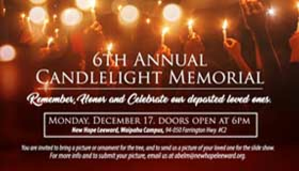 6th Annual Candlelight Memorial